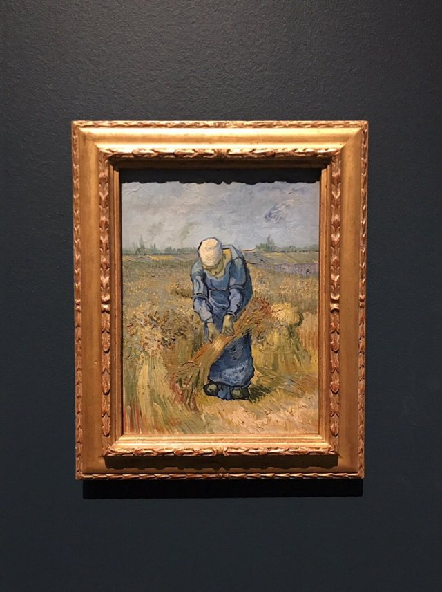 Peasant Woman Binding Sheaves Vincent van Gogh