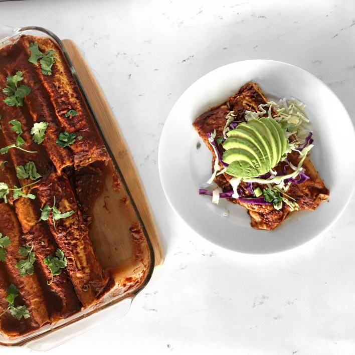 Awesome Plant-based enchiladas