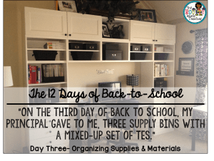The 12 Days of Back to School: Day Three- Three Supply Bins