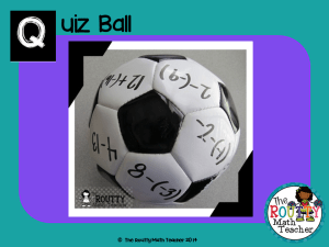"Read about ""Quiz Ball"" here!"
