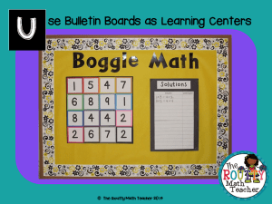 "Read about ""Using Bulletin Boards as Learning Centers"" here!"