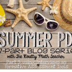 Summer PD: Using Interviews as Formative Assessment Tools