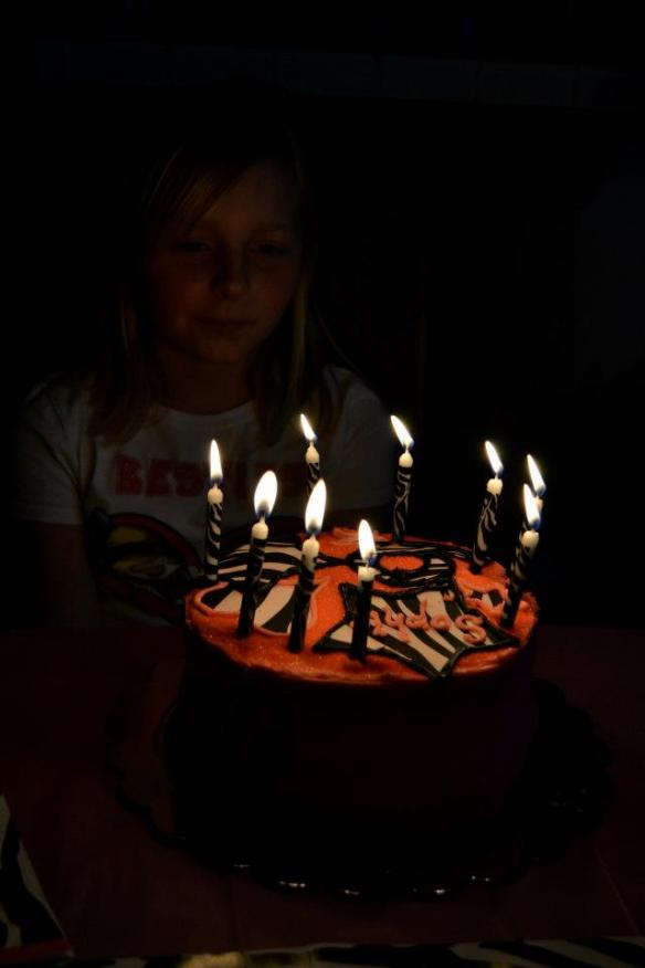 blow out the candles Sophie