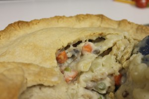 Chicken pot pie with bear fat crust!