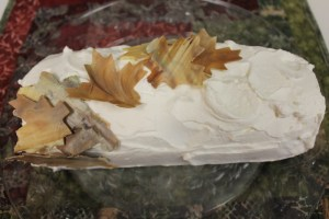 Pumpkin Cake Roll with Butterscotch Cream Cheese Filling