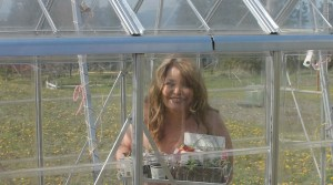 in the green house naked gardening day