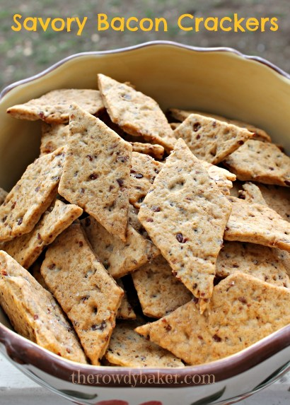 Savory Bacon Crackers vertical