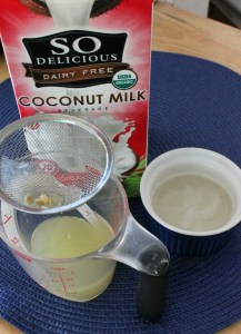 Combine lemon, coconut milk, and gelatin mixture.