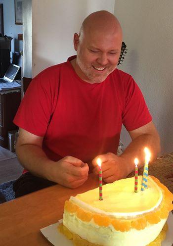 Chris and cake