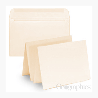 Ivory Greeting Cards with Envelopes Geographics