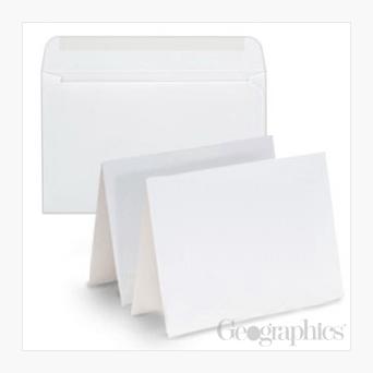 White Matte Greeting Cards Envelopes Royal Lace