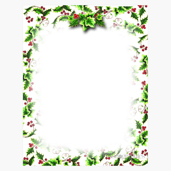 Holly and Ivy Christmas Letterhead by Geographics
