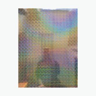 Poster Board Ultra Brite Silver Mosaic Iridescent L