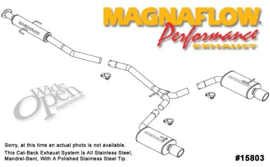 magnaflow cat back exhaust system for