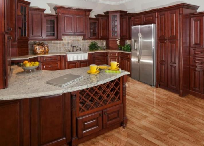 Pre Assembled Kitchen Cabinets   The RTA Store Newberry Merlot Pre Assembled Kitchen Cabinets