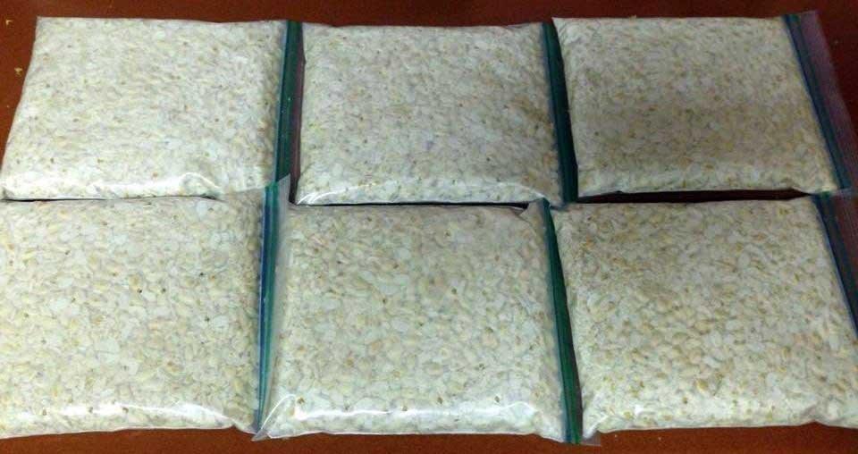 Homemade Tempeh recipe - Tempeh in ziplock bags