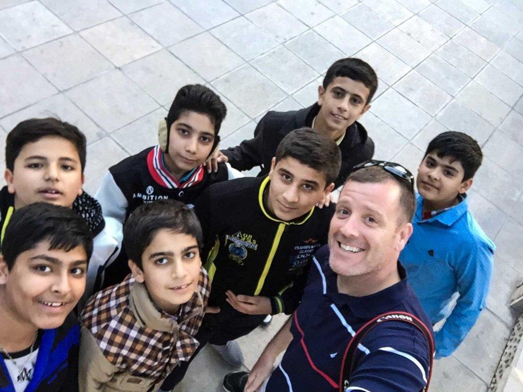 Travel attitude - A group of children found me in Shiraz