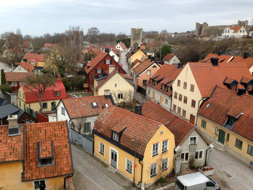 bird's eye view of visby