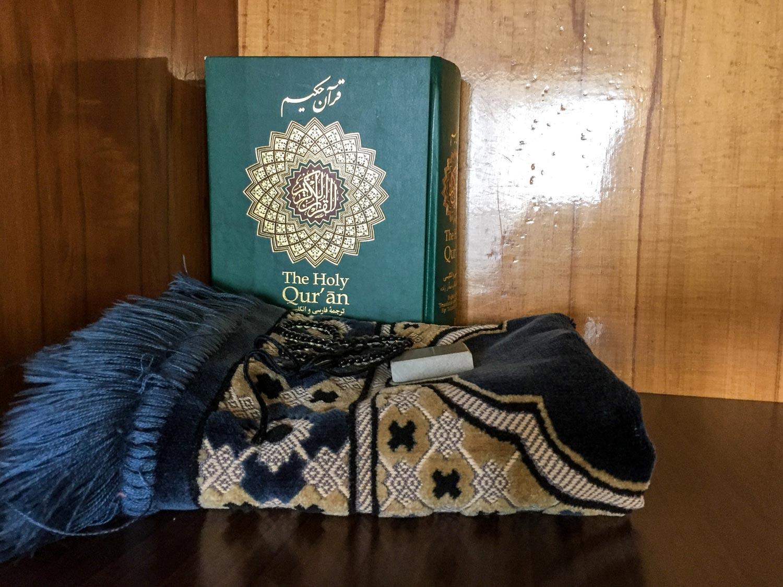 Setarah Hotel Isfahan gives you a copy of the Quran