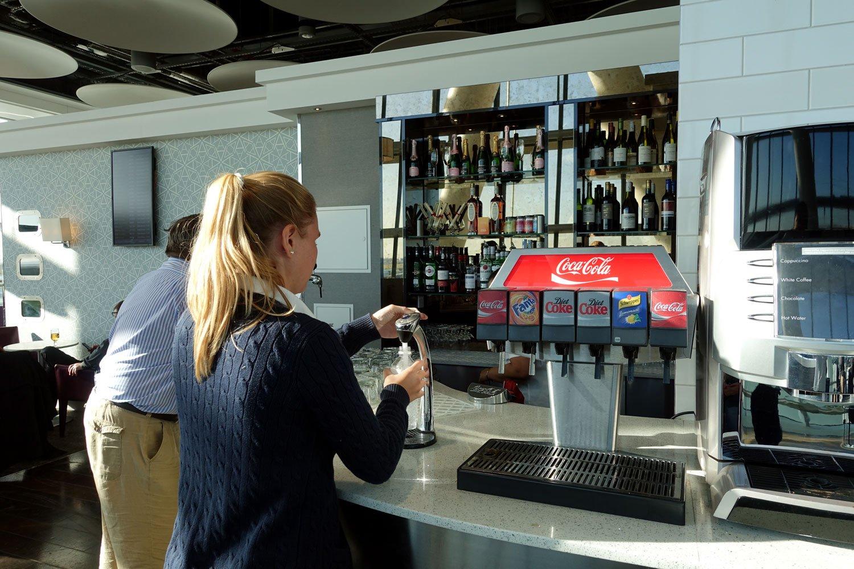 aspire lounge spa heathrow london cold drinks