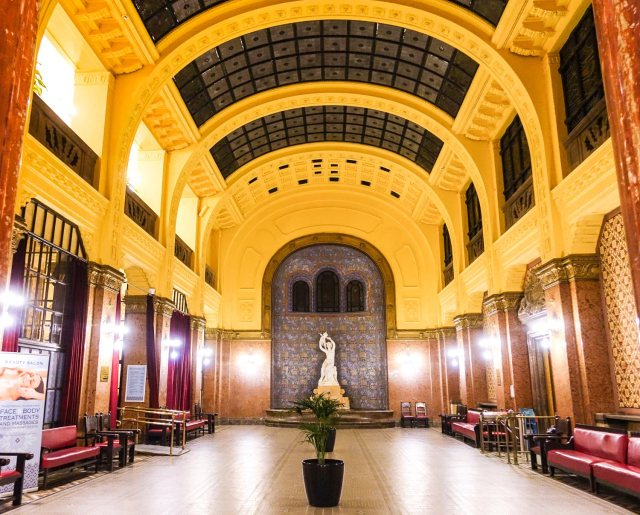 Budapest Thermal Baths gellert baths hallway