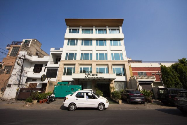 flute boutique hotel jaipur: the view from across the street
