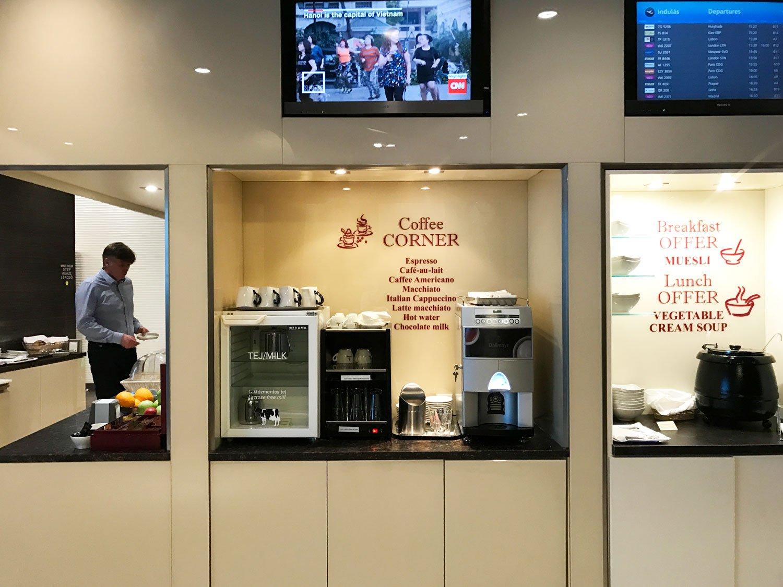 skycourt lounge budapest airport coffee