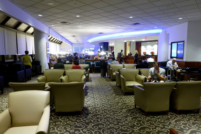 Delta Sky Club in Fort Lauderdale main lounge