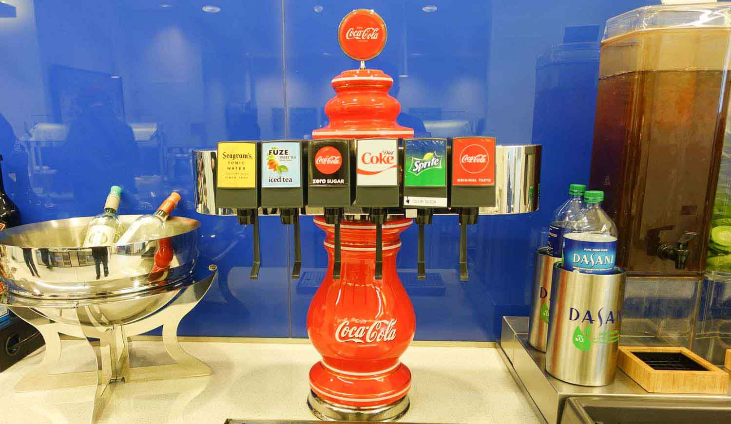 Delta Sky Club at Philadelphia Airport - Coca Cola fountain