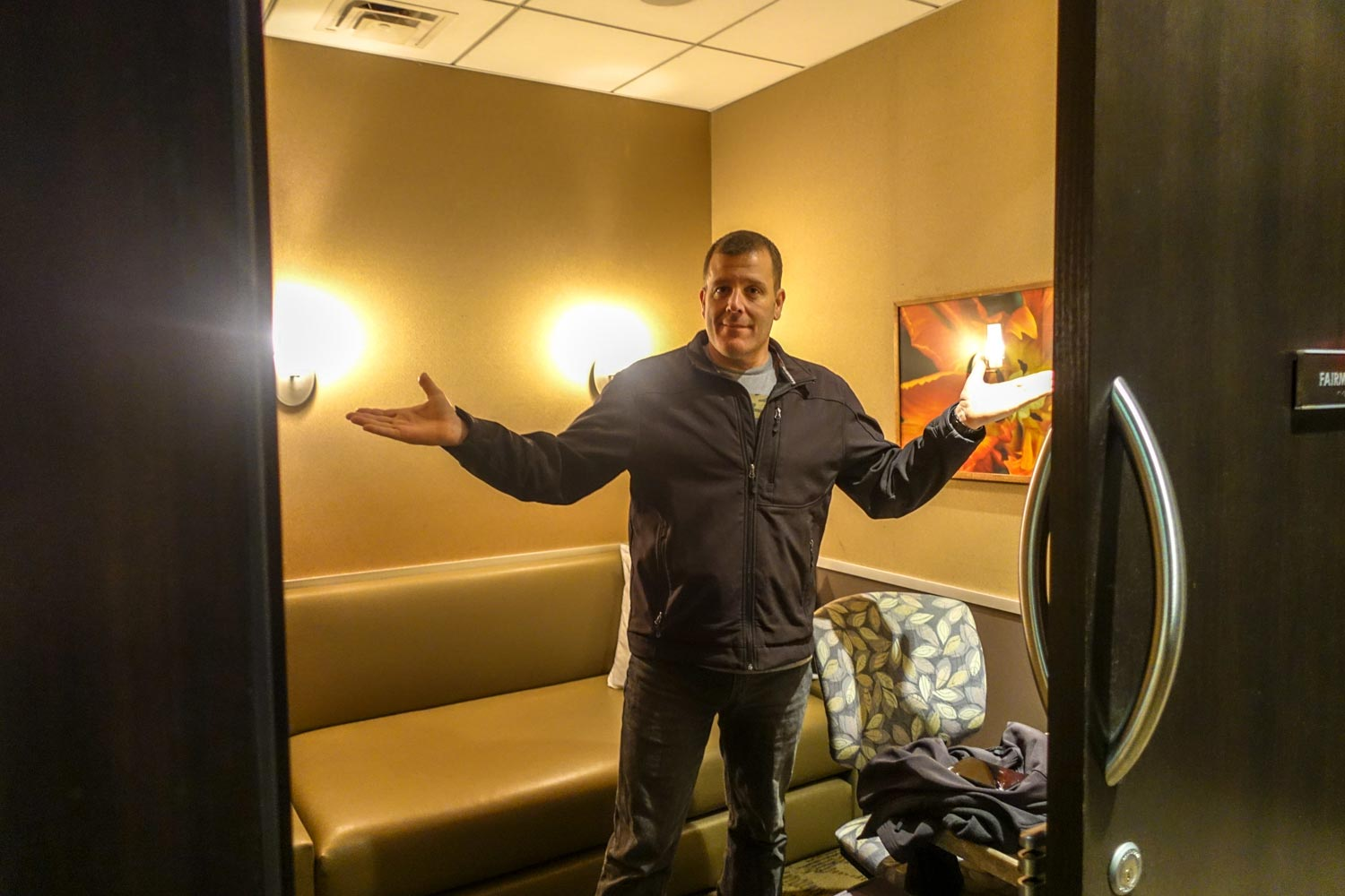 minute suites at philadelphia international airport - Michael in his room