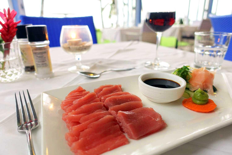 cook islands food sashimi tamarind restaurant