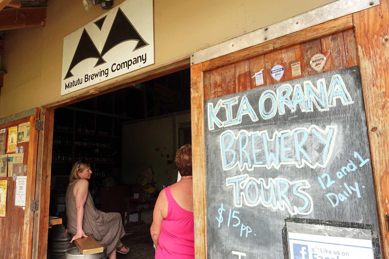 cook islands food matutu brewing company