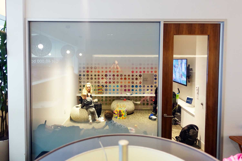 Centurion Lounge SFO family room