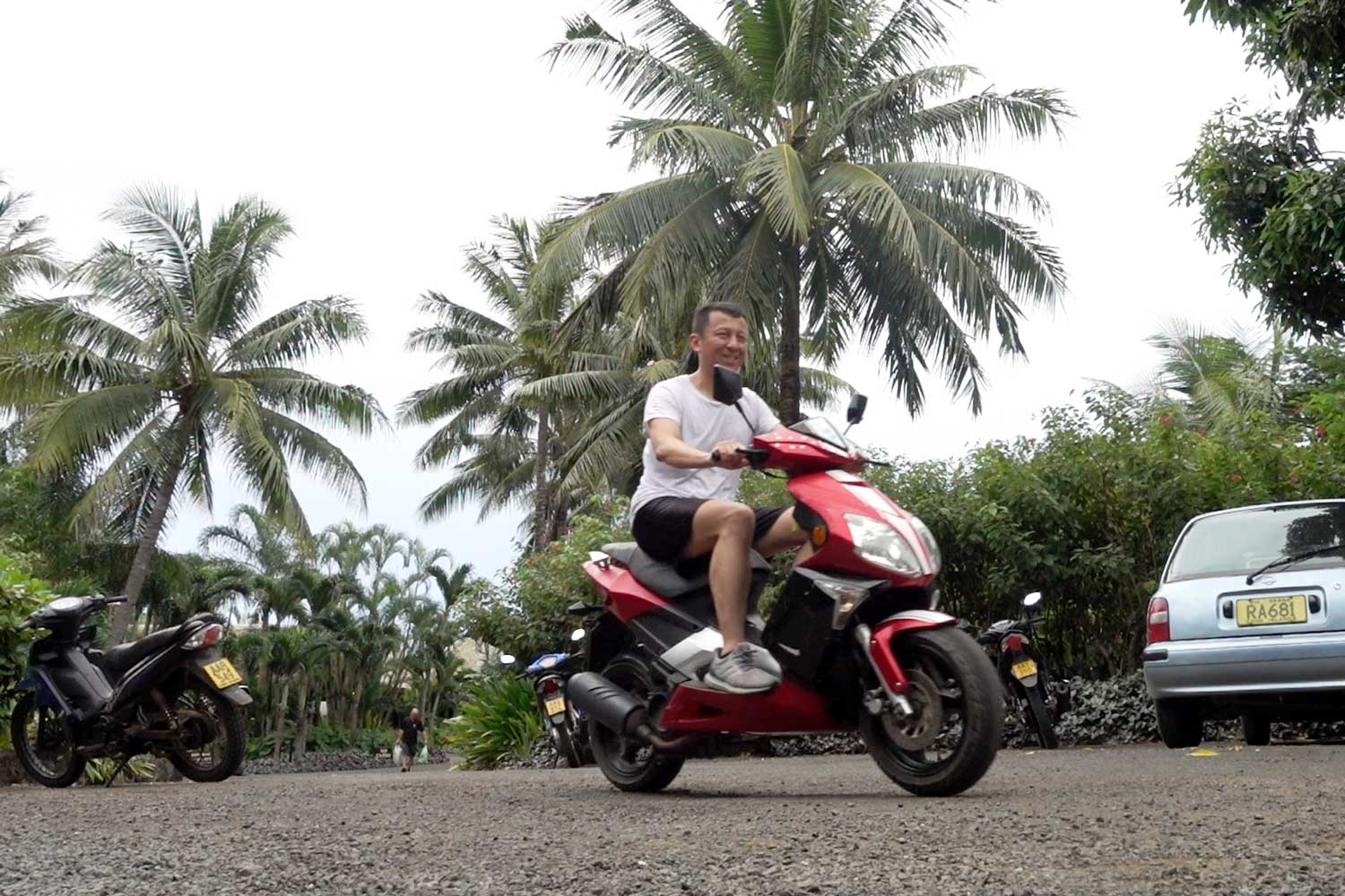 Cook Islands Drivers License scooter riding
