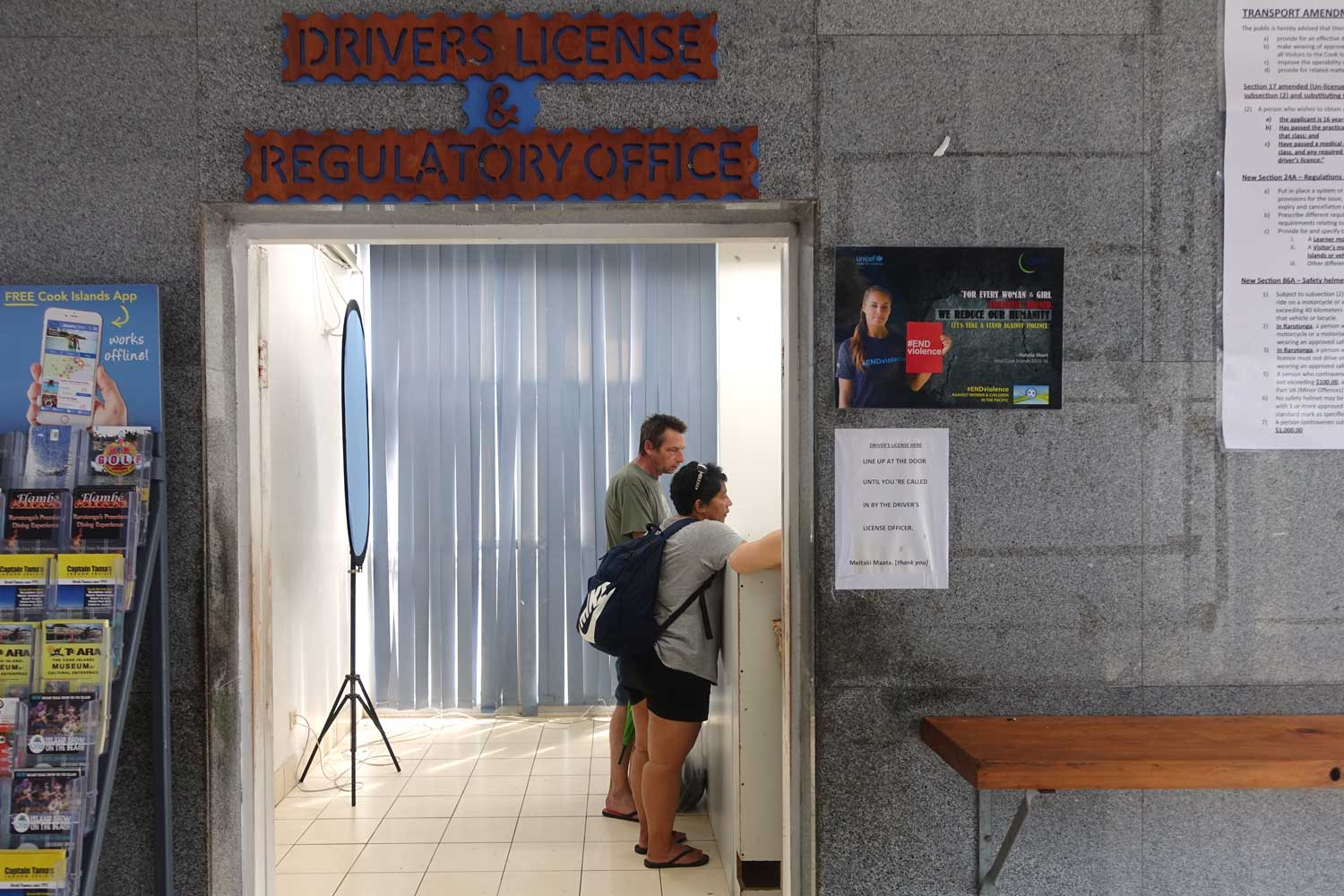 Cook Islands Drivers License office