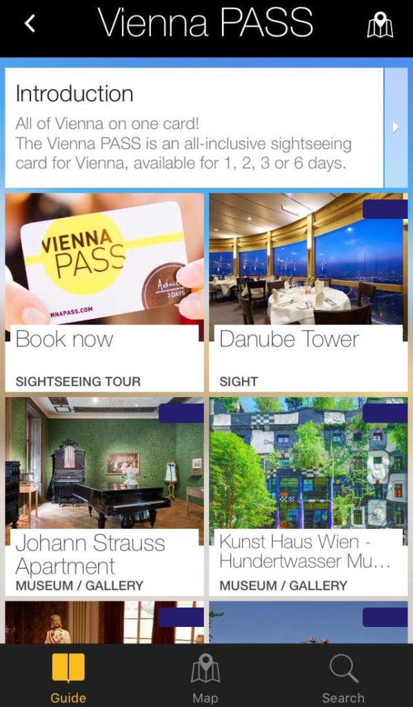 vienna pass app screenshot