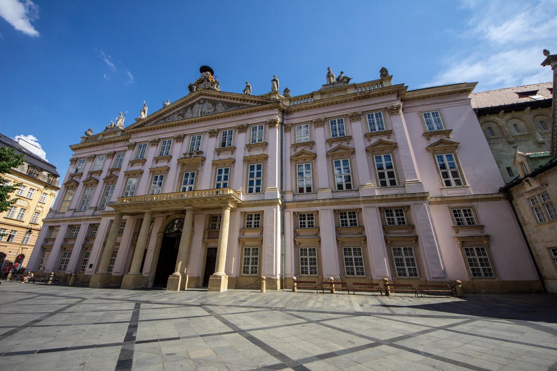 The Primates Palace exterior in Bratislava