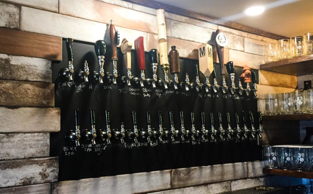 Best craft beer in Fredericton - taps at James Joyce pub