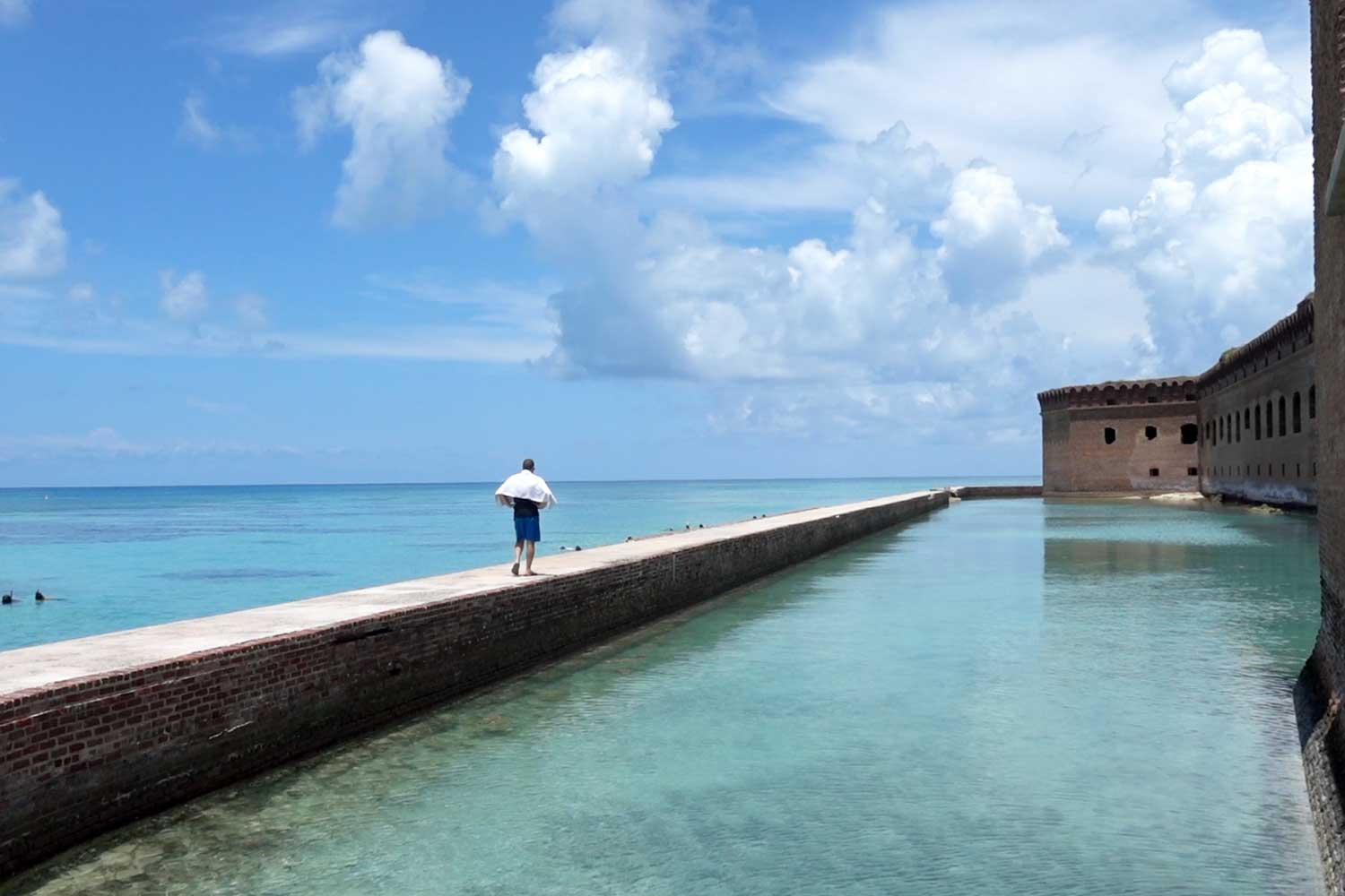 dry tortugas national park moat exploration