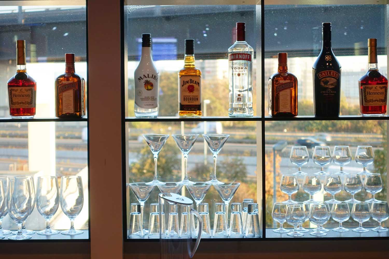 Primeclass Lounge Frankfurt liquor
