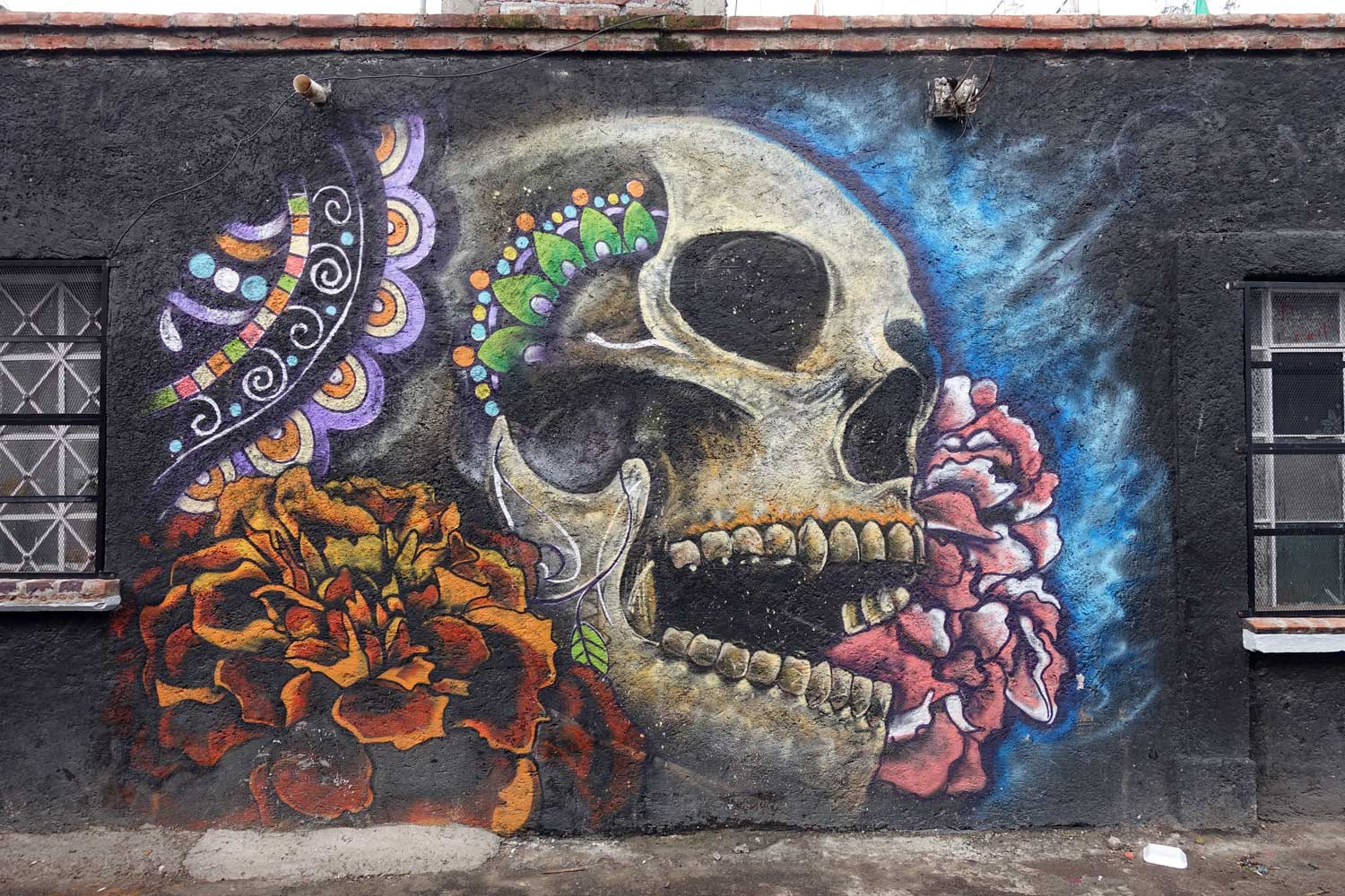 Mixquic Day of the Dead Street art