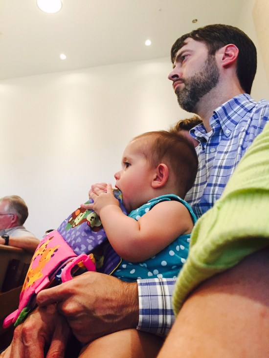 Jeremy and EJ at church