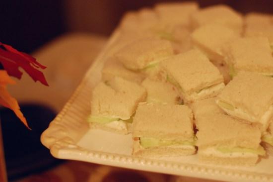 7. Cucumber sandwiches