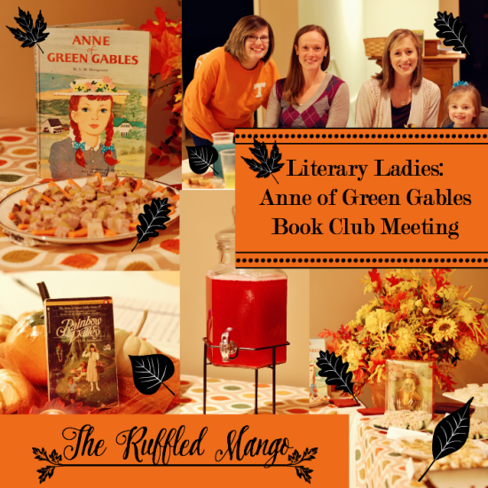 Anne of Green Gables book club meeting