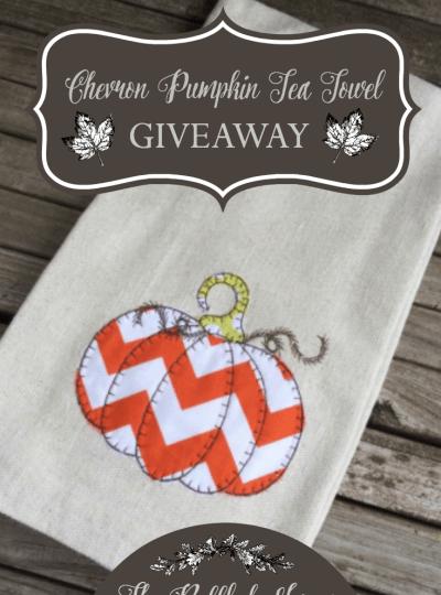 Pumpkin Tea Towel Giveaway