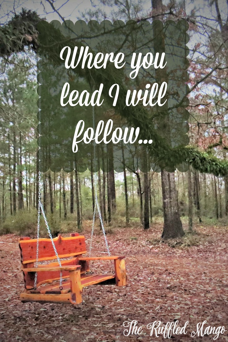 Where you lead I will follow...