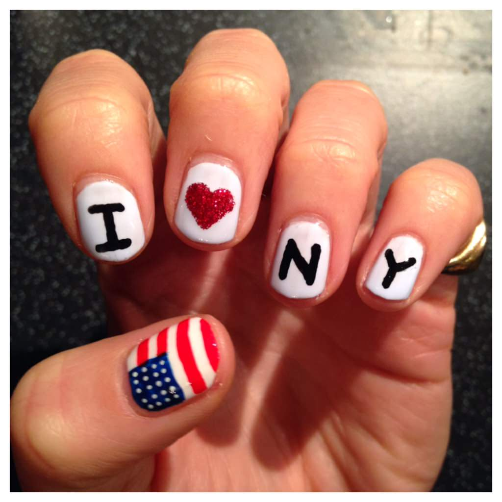 New York Marathon Nail Art