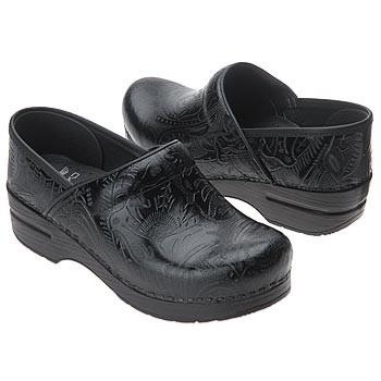 Dansko-Women's-Professional-Tooled-Clog-in-Black-Tooled