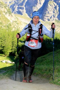 Stephanie running 2013's Ultra Trail du Mont Blanc