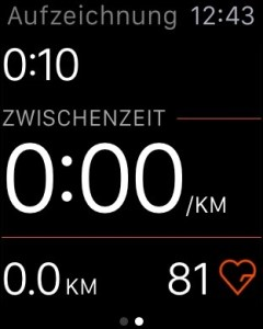 Run tracking on the Apple Watch